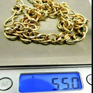 55 Grams Solid Gold Chain 9k 9ct Gold Necklace